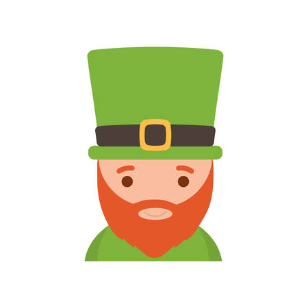 saint patrick day leprechaun with hat beard vector illustration