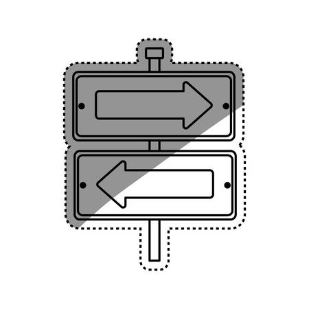 directions icon: Road sign directions icon vector illustration graphic design Illustration