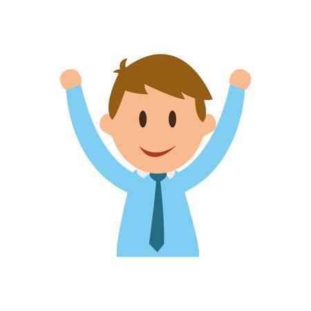 hapiness: Businessman entrepreneur cartoon icon vector illustration graphic design
