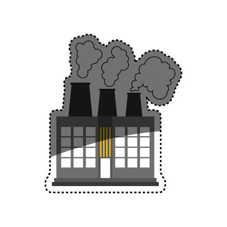Factory or industry building symbol icon vector illustration graphic design