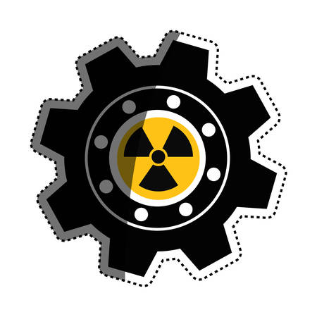 Gear industrial piece icon vector illustration graphic design