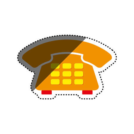 answering: Telephone communication technology icon vector illustration graphic design