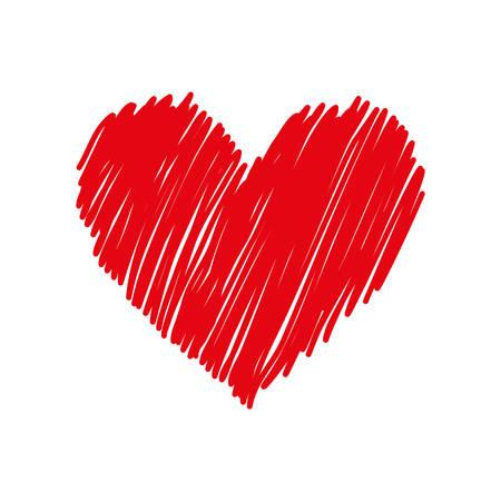 Corazón y el icono de amor ilustración vectorial de diseño gráfico