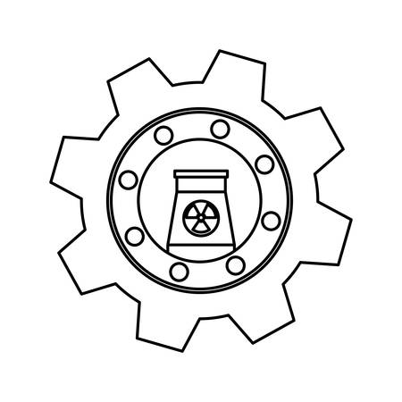 nuclear vector: Nuclear energy plant icon vector illustration graphic design
