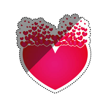 heart and love icon vector illustration graphic design royalty free