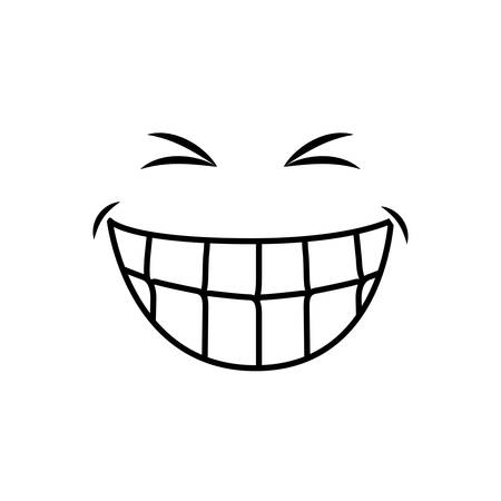 Mouth laughing cartoon icon vector illustration graphic design Illustration