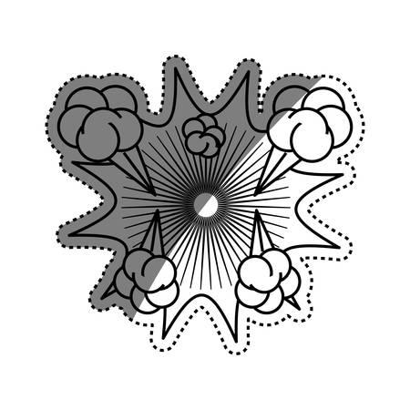 Comic explosion cartoon icon vector illustration graphic design