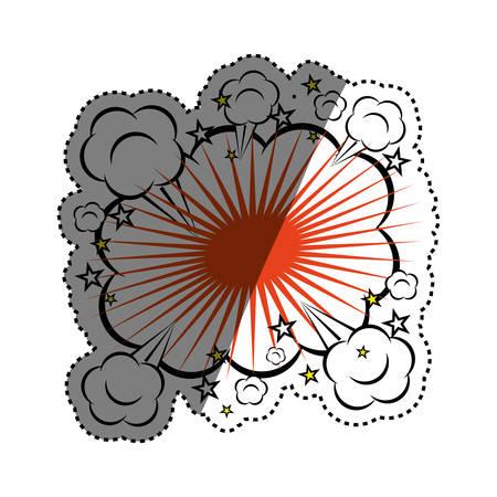 dinamita: Comic explosion cartoon icon vector illustration graphic design