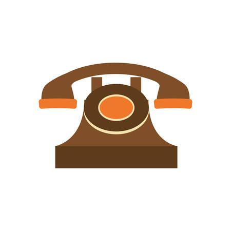 revive: Vintage telephone device icon vector illustration graphic design