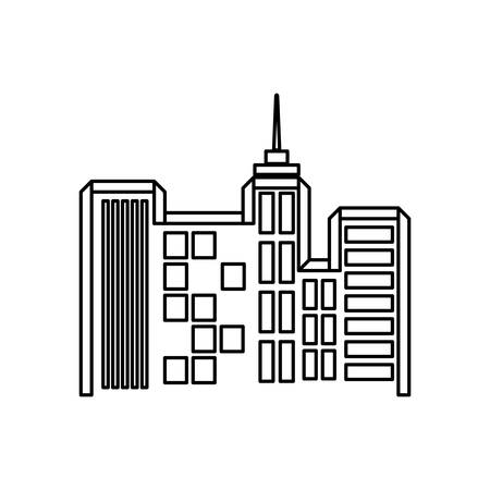 urbanization: city buildings symbol icon vector illustration graphic design