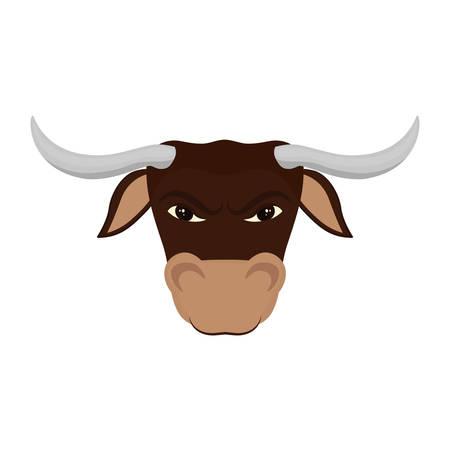 Bull stock market symbol icon vector illustration graphic design Illustration
