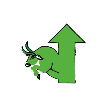 Bull Stock Market Symbol Icon Vector Illustration Graphic Design