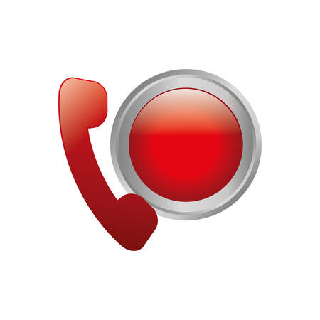 Emergency call line icon vector illustration graphic design Illustration
