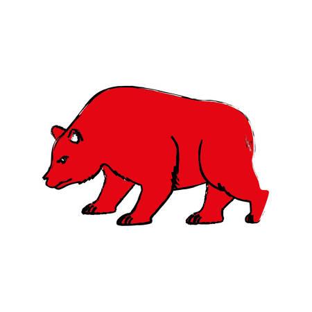 Stock market bear icon vector illustration graphic design