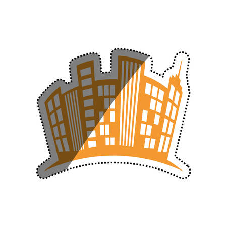 city buildings symbol icon vector illustration graphic design