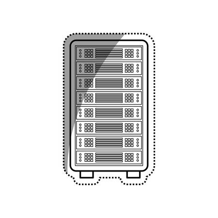 storage: Database storage computer icon vector illustration graphic design