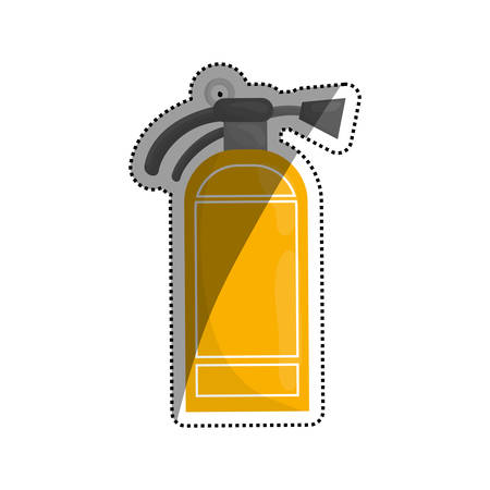 suppression: Fire extinguisher isolated icon vector illustration graphic design