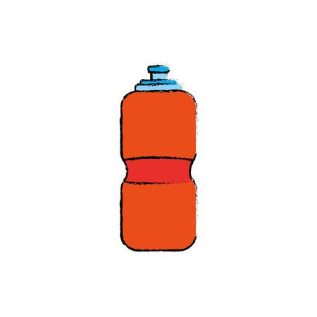 Sport thermo bottle icon vector illustration graphic design
