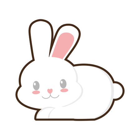 easter bunny beautiful character icon vector illustration eps 10 Illustration