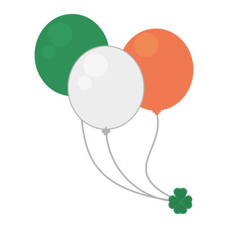 balloons flag irish st patricks day Illustration