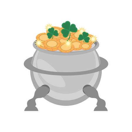 superstitious: steel cauldron gold coin st patricks day
