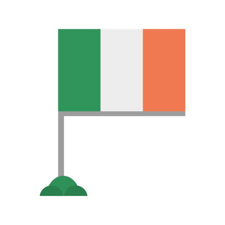 irish flag: irish flag st patricks day Illustration