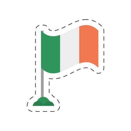 irish flag: cartoon irish flag st patricks day vector illustration eps 10