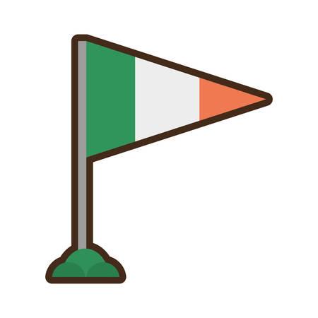 irish flag: st patricks day irish flag celebration
