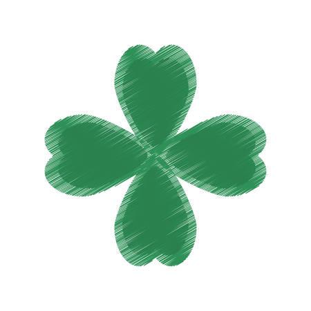drawing st patricks day clover symbol Illustration