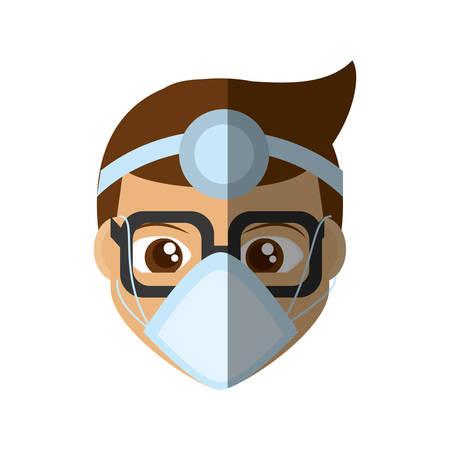 doctor mask medical head mirror