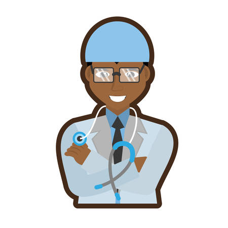 surgeons hat: doctor stethoscope coat hat Illustration