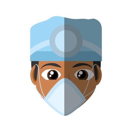 face doctor mask medical hat profession