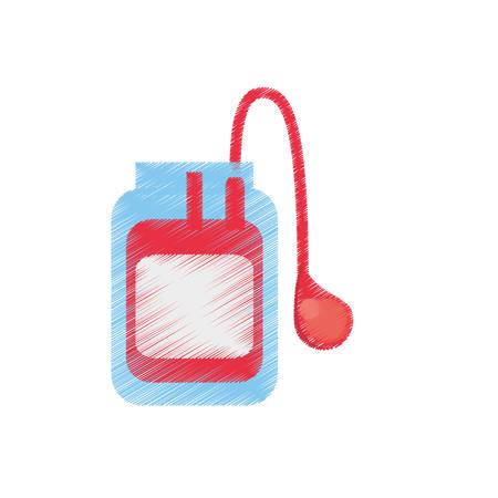 drawing medical blood bag donation vector illustration eps 10