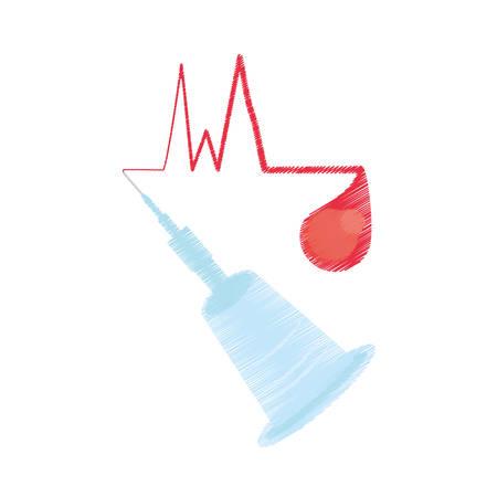 medical instrument blood donation vector illustration