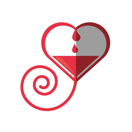 Heart Blood Donation Symbol Vector Illustration Royalty Free