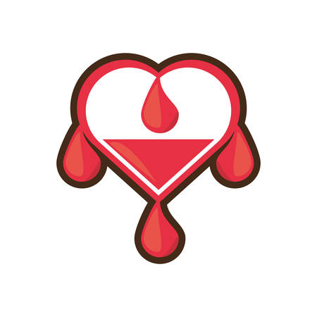 heart drop blood donation day Illustration
