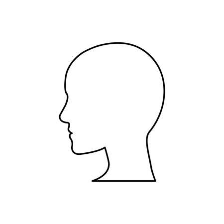icono de la cabeza de la silueta ilustración vectorial humana diseño gráfico
