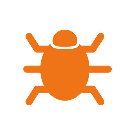 Bug system technology icon vector illustration graphic design
