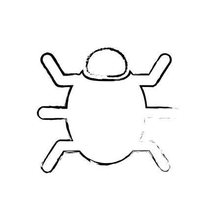 parasitic infestation: Bug system technology icon vector illustration graphic design