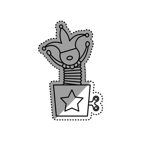 jack in the box: Toy for childrens icon vector illustration graphic design