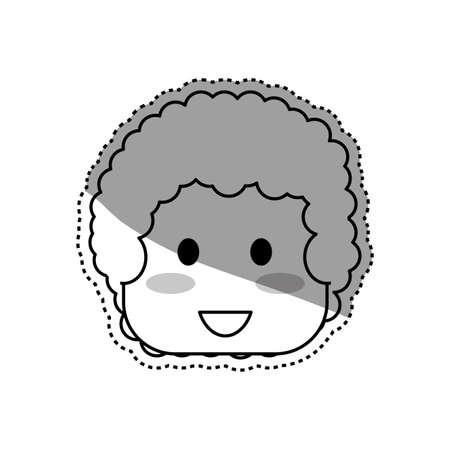black baby boy: Kid boy face icon vector illustration graphic design