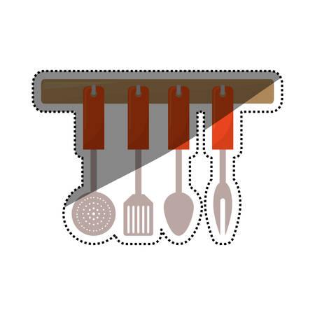 turner: Kitchen cook utensil icon vector illustration graphic design