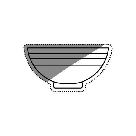 food plate: Food deep plate icon illustration graphic design.