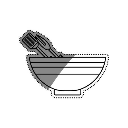 food plate: Food deep plate icon vector illustration graphic design