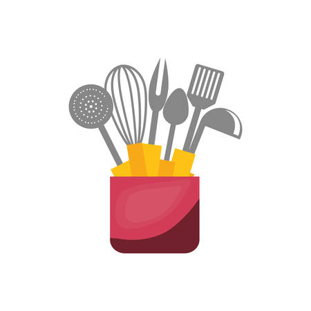 Kitchen cook utensil icon illustration graphic design. Illustration