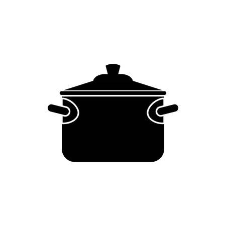 Saucepan cookware equipment icon vector illustration graphic design Illustration
