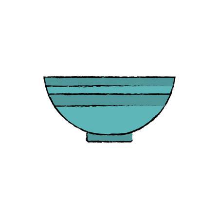 food plate: Food deep plate icon vector illustration graphic design. Illustration