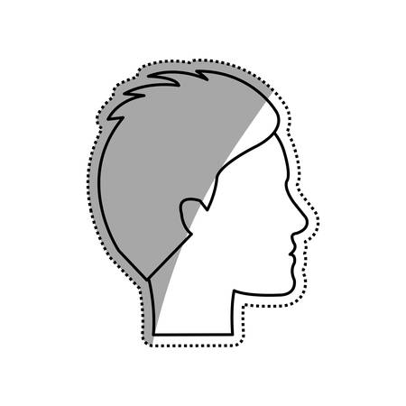 young black man: Man faceless head icon vector illustration graphic design