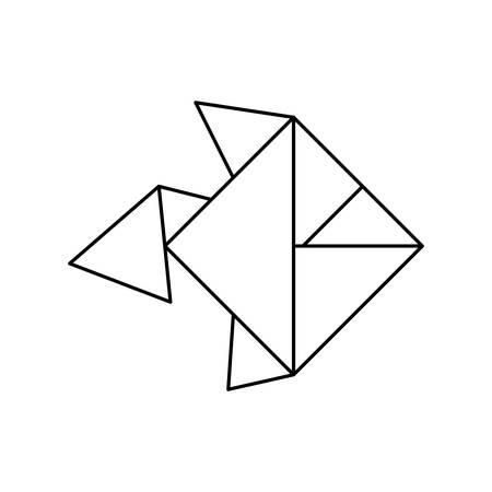 origami paper art icon vector illustration graphic design Illustration