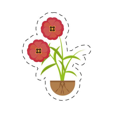 buttercup flower growing spring vector illustration eps 10 Illustration